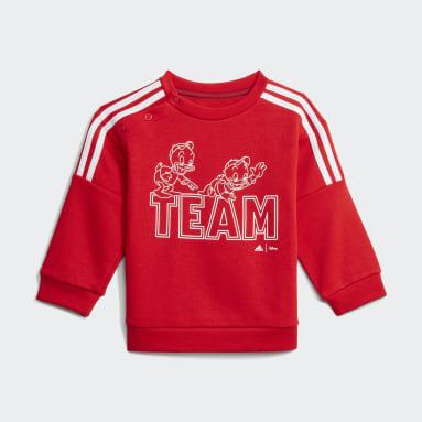 Deti Sportswear červená Súprava adidas x Disney Huey Dewey Louie Jogger
