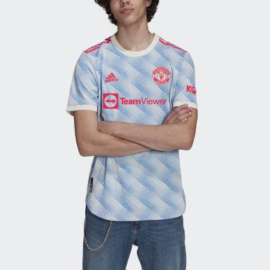Camisa 2 Manchester United 21/22 Authentic Branco Homem Futebol