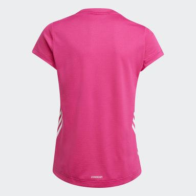 Camiseta AEROREADY 3 bandas Rosa Niña Gimnasio Y Entrenamiento