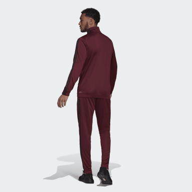 Mænd Sportswear Burgundy adidas Sportswear Tapered træningssæt