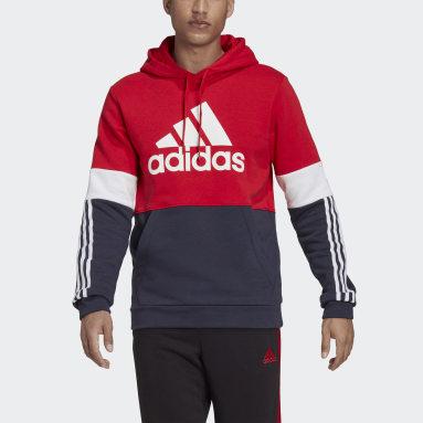 Men's Essentials Red Essentials Fleece Colorblock Sweatshirt