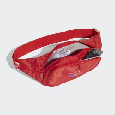 Cangurera Adicolor Primeblue Rojo Originals