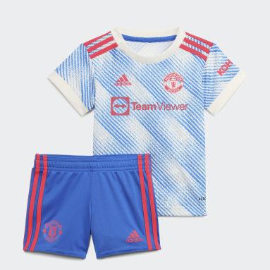 Kids Football White Manchester United 21/22 Away Baby Kit