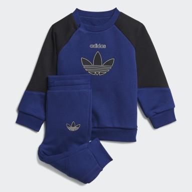 Kinderen Originals Blauw adidas SPRT Crew Setje