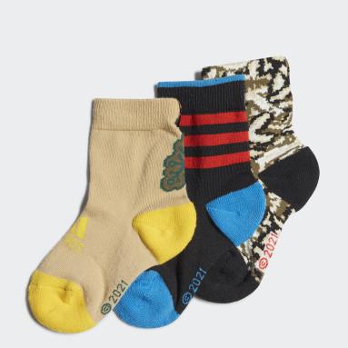 разноцветный Три пары носков adidas x LEGO® Baumhaus