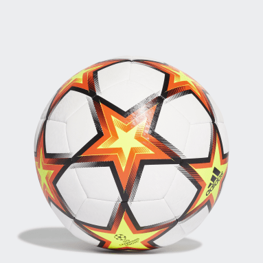 Football White UCL Training Pyrostorm Ball