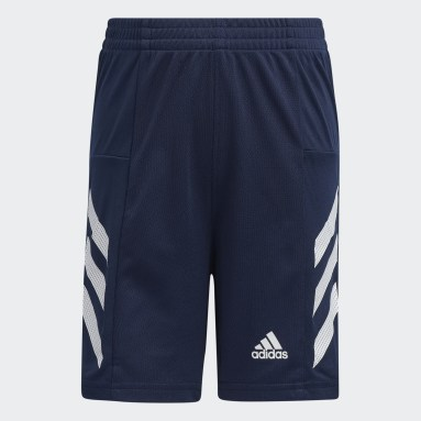 Children Training Blue New Pro Sport 3-Stripes Shorts