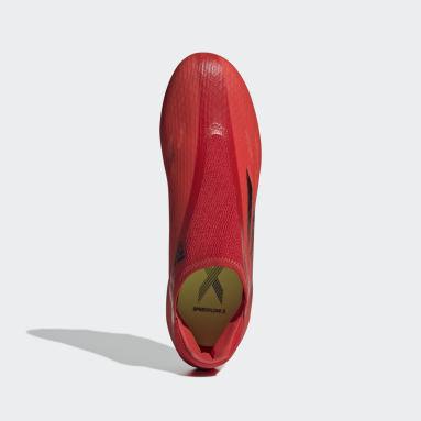 Scarpe da Calcio X Speedflow.3 Laceless Firm Ground Rosso Calcio