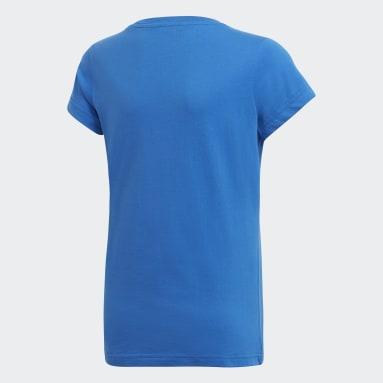 Youth 8-16 Years Gym & Training Blue Essentials Linear T-Shirt
