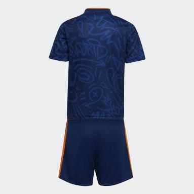 Kids 4-8 Years Football Blue Real Madrid 21/22 Away Mini Kit