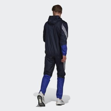 Men Sportswear Blue adidas Sportswear Hooded Track Suit
