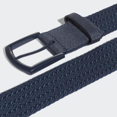 Golf Blue Men's Braided Stretch Belt
