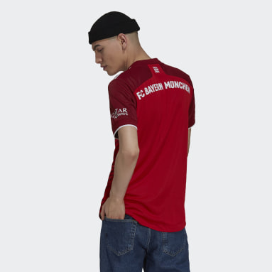 Maillot Domicile FC Bayern 21/22 Authentique Rouge Hommes Football