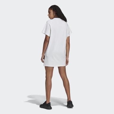 Women Originals White Collegiate Tee Dress