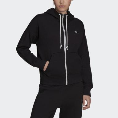 Kadın Sportswear Siyah adidas Sportswear Stadium Full-Zip Kapüşonlu Üst