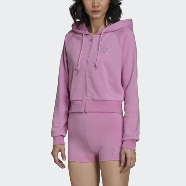 Women Originals Purple adidas 2000 Luxe Cropped Track Top