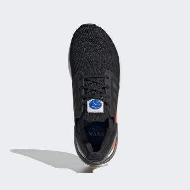 Men Running Black Ultraboost 20 Shoes