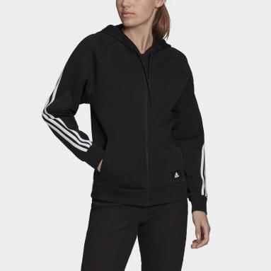 Kadın Sportswear Siyah adidas Sportswear Future Icons 3-Stripes Kapüşonlu Üst