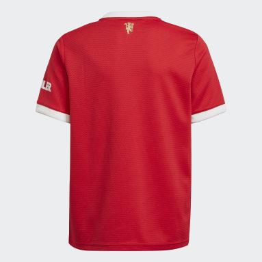 Camiseta Local Manchester United 21/22 Rojo Niño Fútbol