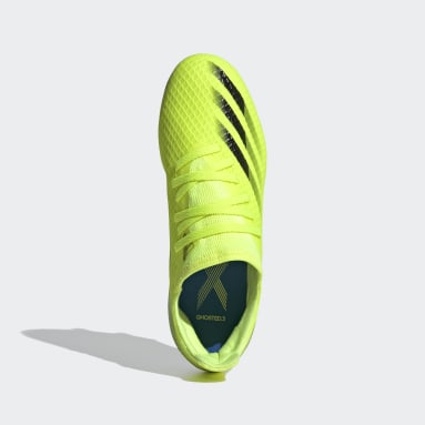 Kids Football Yellow X Ghosted.3 Soft Ground Boots