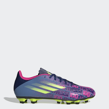 Football Blue X Speedflow Messi.4 Flexible Ground Boots