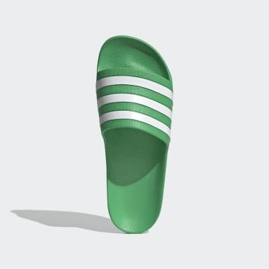 Muži Plavání zelená Pantofle Adilette Aqua