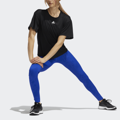 Tight lunghi Believe This Primegreen Camo Blu Donna HIIT
