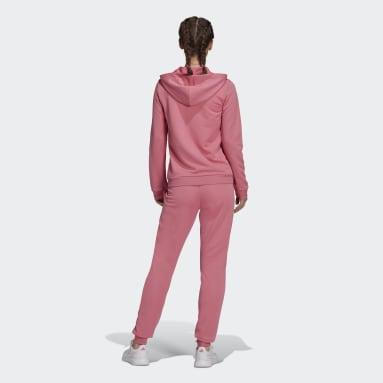 Women Sportswear Pink Essentials Logo French Terry Tracksuit