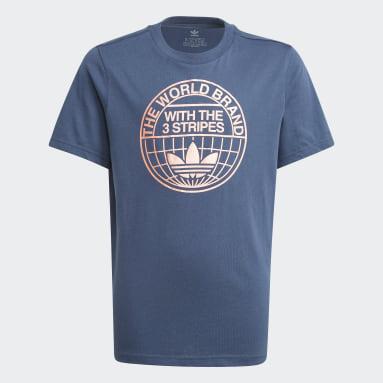Camiseta Graphic Print Azul Niño Originals