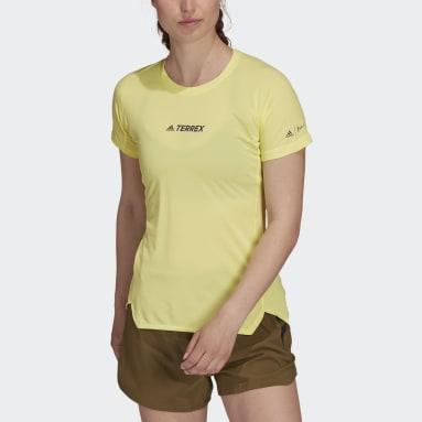T-shirt Terrex Parley Agravic Trail Running All-Around Jaune Femmes TERREX