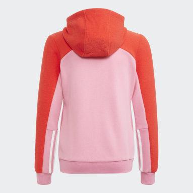 Felpa con cappuccio adidas Colorblock Full-Zip Rosa Ragazza Sportswear
