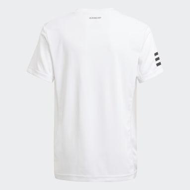 Camiseta Club Tennis 3 bandas Blanco Niño Tenis