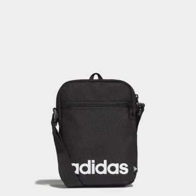 Bolsa Cruzada Essentials Logo Negro Diseño Deportivo