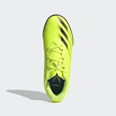 Zapatilla de fútbol X Ghosted.4 moqueta Amarillo Niño Fútbol