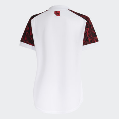Camisa 2 CR Flamengo 21/22 Branco Mulher Futebol