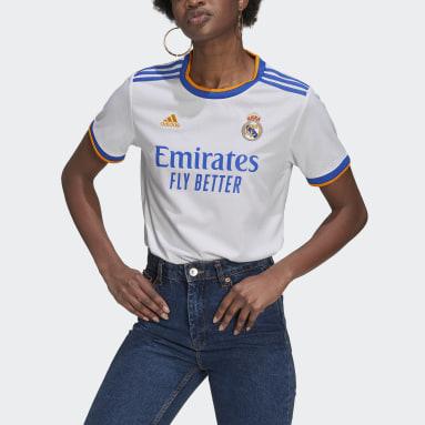 Camisa 1 Real Madrid 21/22 Branco Mulher Futebol