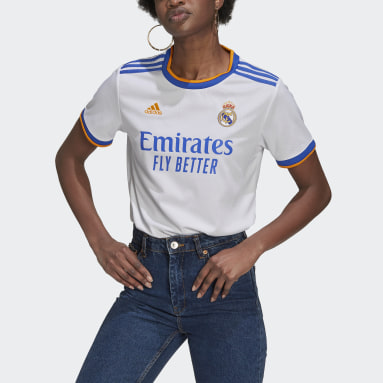Women Football White Real Madrid 21/22 Home Jersey
