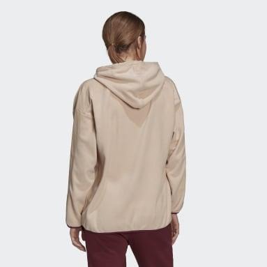Sudadera con capucha Brand Love Giant Logo Polar Fleece Rosa Mujer Sportswear