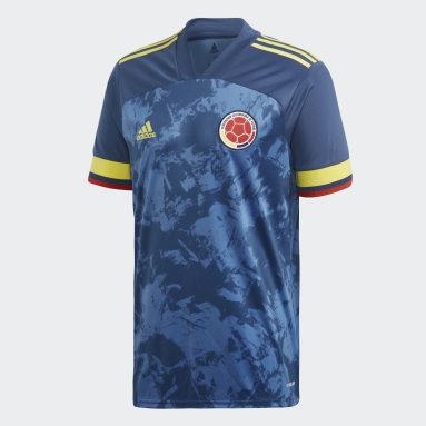 Camiseta de visitante Colombia Azul Hombre Fútbol