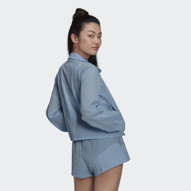 ผู้หญิง Originals สีน้ำเงิน เสื้อกันลม Triple Trefoil