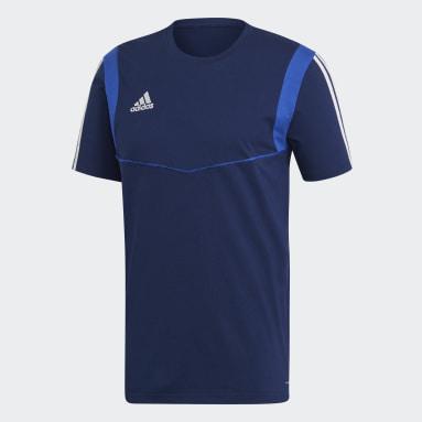 Camiseta Tiro 19 Azul Hombre Gimnasio Y Entrenamiento