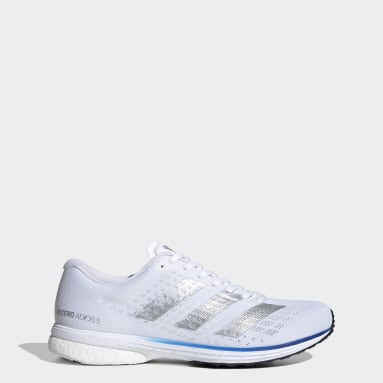 Men Running White Adizero Adios 5 Shoes