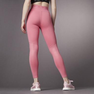 Legging Longa Cintura Alta Hyperglam Rosa Mulher Training