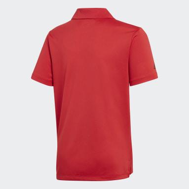 Playera polo Performance Rojo Niño Golf