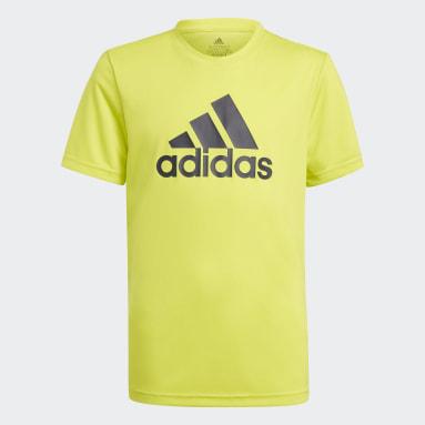 T-shirt adidas Designed To Move Big Logo jaune Adolescents Entraînement