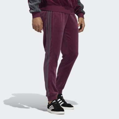 adidas SPRT Velour 3-Stripes Bukse Burgendur