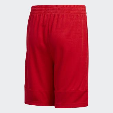 Youth Training Red Clashing 3-Stripes Shorts