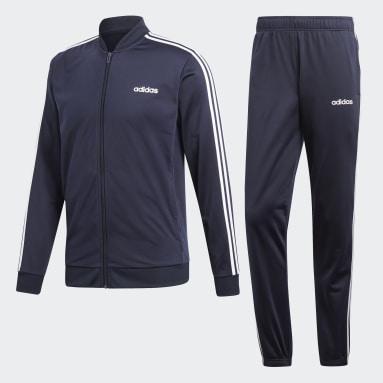 Herr Sportswear Blå 3-Stripes Track Suit