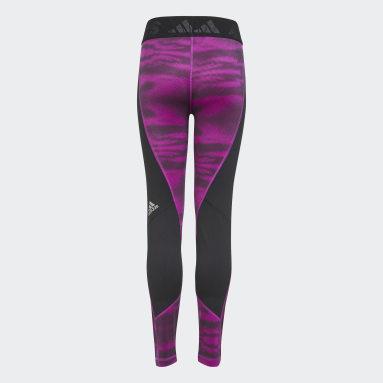 Girls Gym & Training Pink Techfit AEROREADY Warm Reflective Stretch Tights