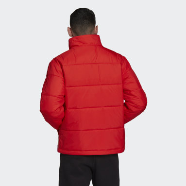 Heren Originals Rood Padded Stand-Up Collar Puffer Jack